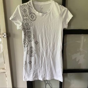 JOE FRESH Yoga T-Shirt with Silver Design
